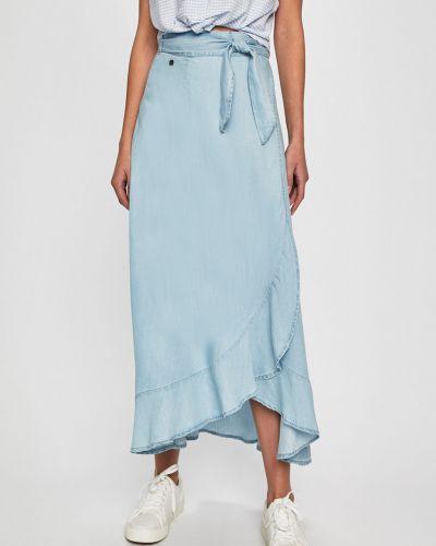 Джинсовая юбка макси с завышенной талией Answear