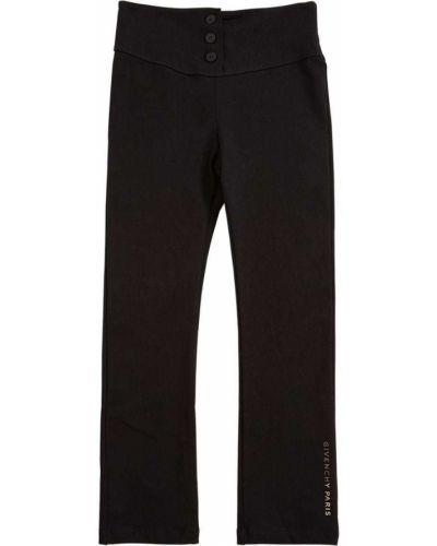Трикотажные черные леггинсы на резинке Givenchy