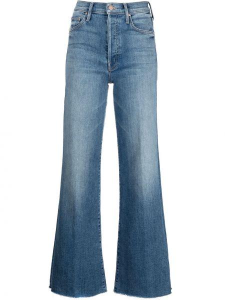 Расклешенные синие джинсы классические с карманами Mother