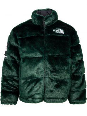 Zielona kurtka ze stójką materiałowa Supreme