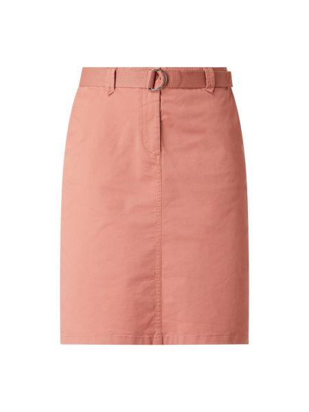 Różowa spódnica ołówkowa bawełniana Christian Berg Women