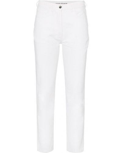 Укороченные джинсы с аппликациями с карманами на пуговицах в стиле бохо A_plan_application