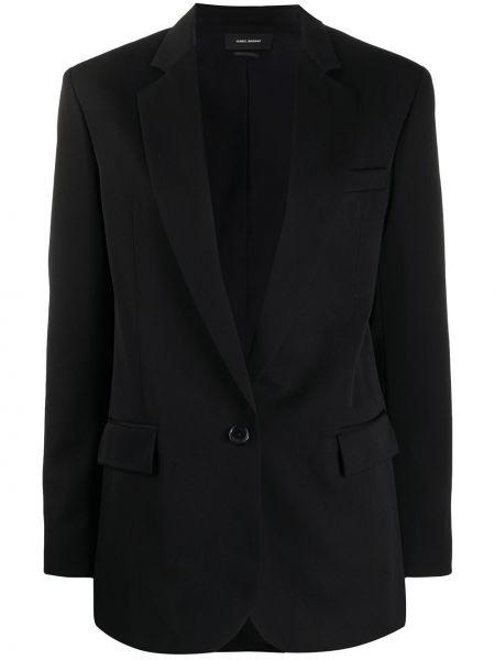 Шерстяной черный пиджак с карманами Isabel Marant