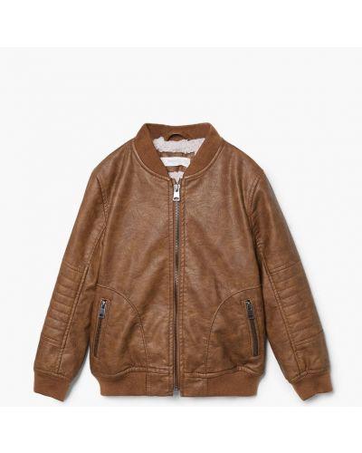 Куртка теплая кожаная Mango Kids