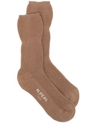 Носки в рубчик - коричневые N.peal