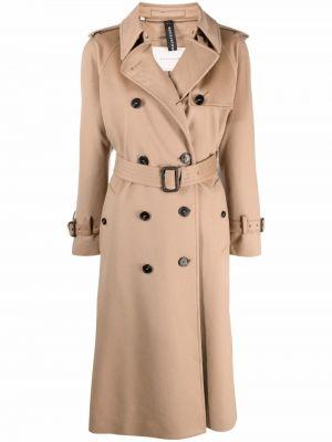 Коричневое длинное пальто Mackintosh