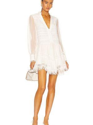 Biała sukienka mini koronkowa z wiskozy Rococo Sand