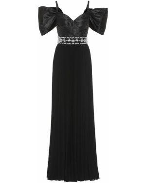Шелковое платье - черное Prada