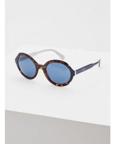 Солнцезащитные очки круглые коричневый Prada