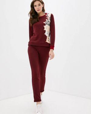 Костюм бордовый красный Fashion.love.story