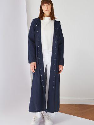Niebieska narzutka bawełniana Trendyol