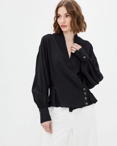 Черная блузка с длинными рукавами B.style
