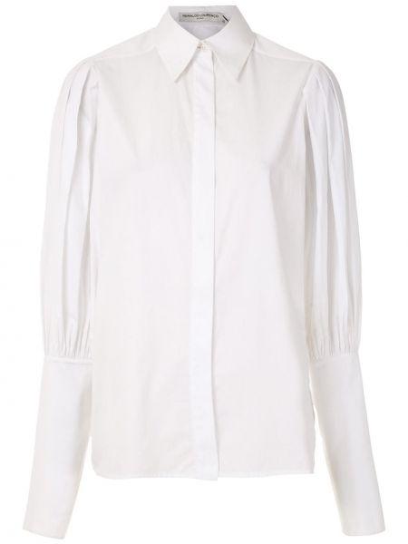 Хлопковая с рукавами белая классическая рубашка Reinaldo Lourenço