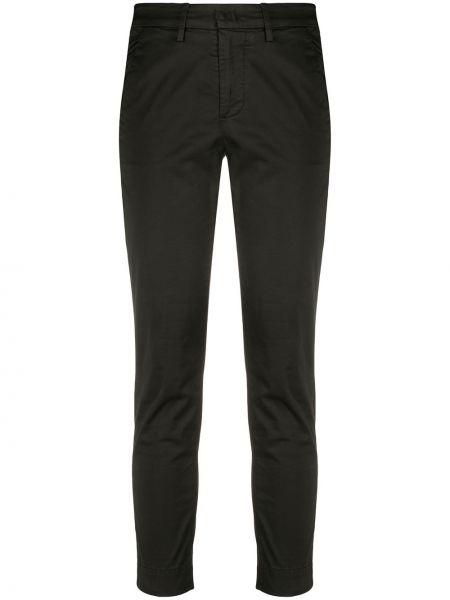 Przycięte spodnie czarne z kieszeniami Dondup