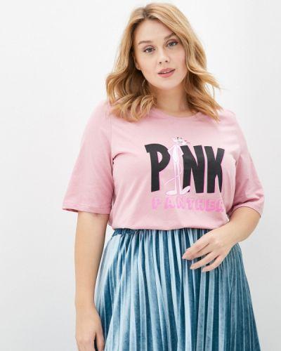 Розовая футболка Ulla Popken