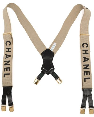 Черные подтяжки винтажные Chanel Pre-owned