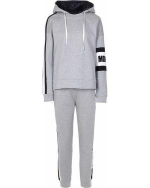 Хлопковый серый спортивный костюм с поясом Moncler