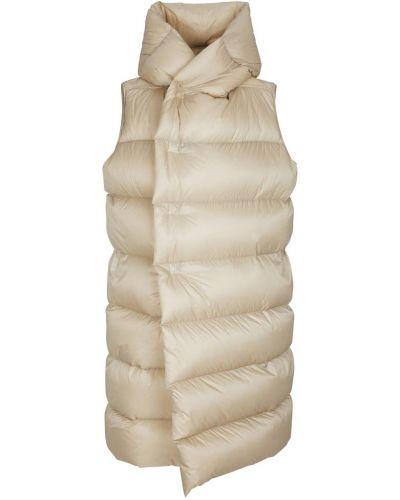 Белое пальто с капюшоном Rick Owens