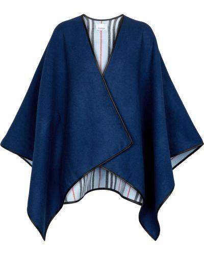 Narzutka wełniana - niebieska Burberry