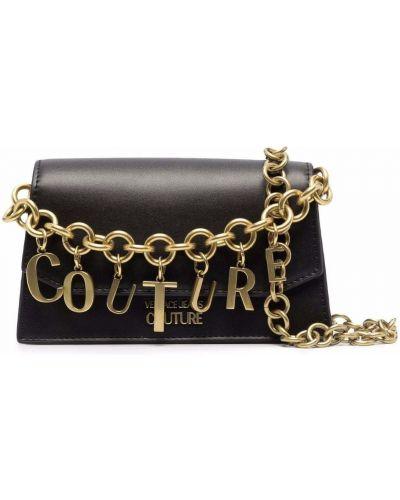 Сумка через плечо из полиэстера - черная Versace Jeans Couture