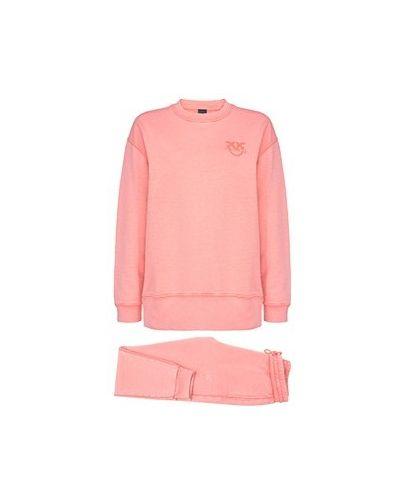 Хлопковый спортивный костюм - розовый Pinko