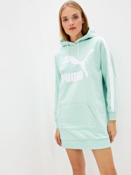 Платье платье-сарафан зеленый Puma