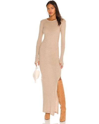 Вечернее платье длинное - хаки Enza Costa