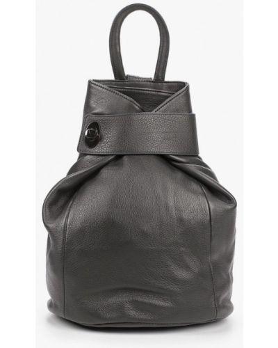 Серый городской рюкзак из натуральной кожи Valensiy