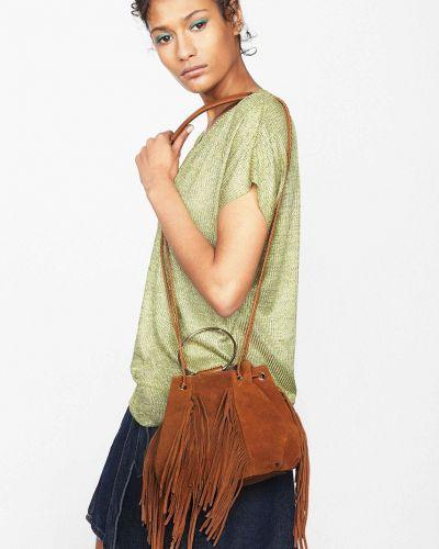 Сумка через плечо с кисточками сумка-мешок Parfois