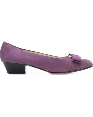 Туфли на каблуке кожаные на низком каблуке Salvatore Ferragamo Pre-owned