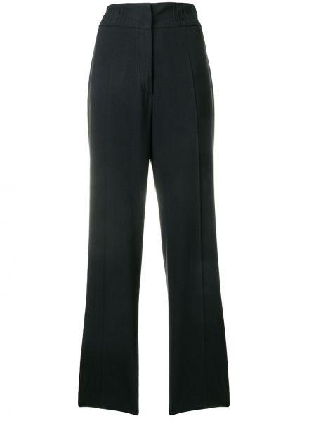 Черные прямые брюки винтажные с воротником Jil Sander Pre-owned