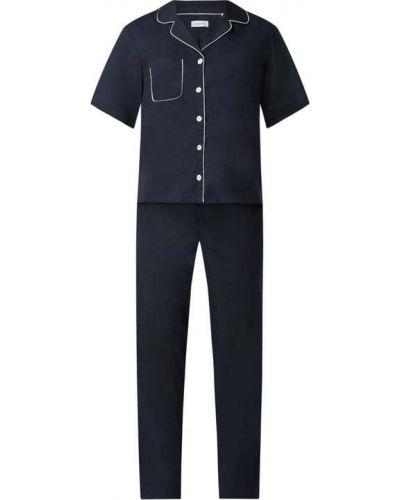 Niebieska spodni piżama bawełniana krótki rękaw Seidensticker