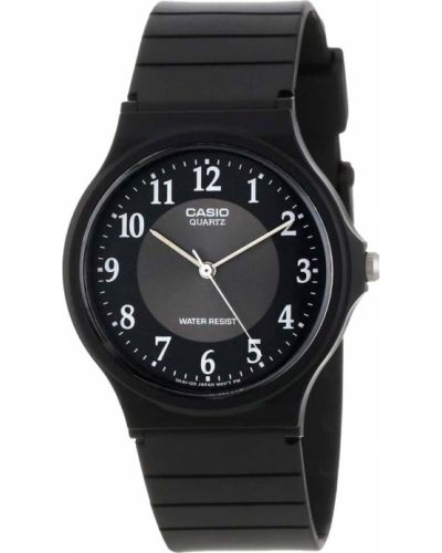 Черные часы водонепроницаемые винтажные Casio