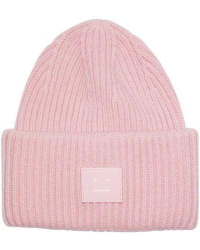 Różowa czapka beanie Acne Studios