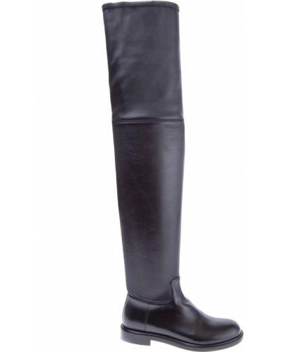 Кожаные сапоги с заклепками милитари Valentino