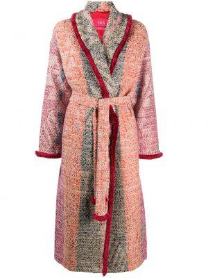 Розовое шерстяное длинное пальто с воротником F.r.s For Restless Sleepers