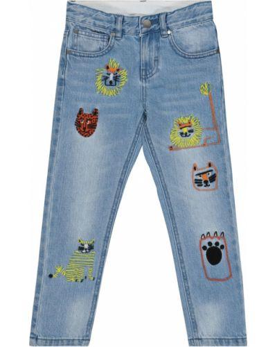 Niebieski jeansy z haftem Stella Mccartney Kids