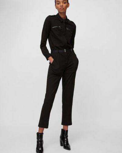 Czarny spodni kombinezon z wiskozy Marc O Polo