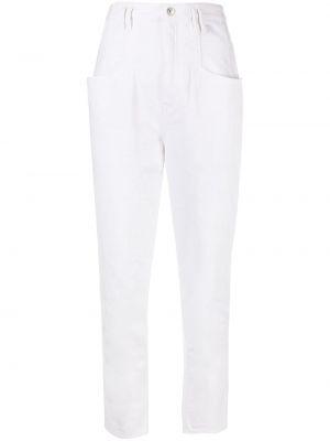 Bawełna bawełna jeansy z łatami z kieszeniami Isabel Marant