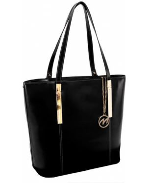Klasyczna czarna torebka skórzana Mcklein