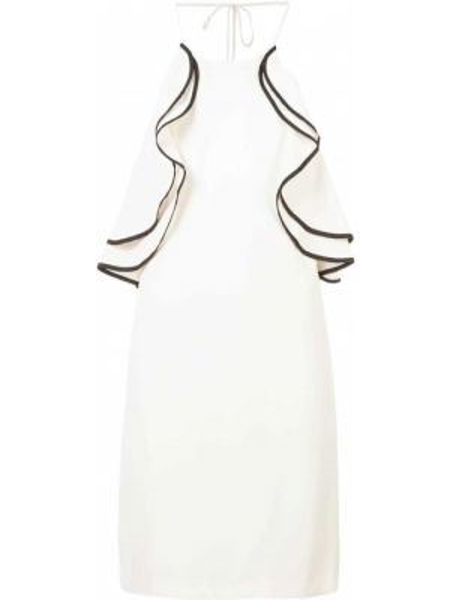 Облегающее платье с оборками без рукавов Halston Heritage