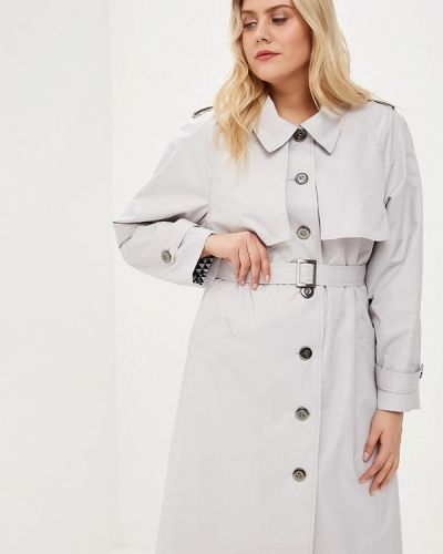 Плащ - серый авантюра Plus Size Fashion