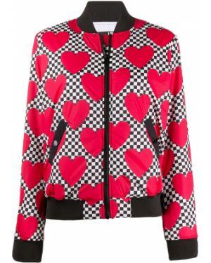 Длинная куртка леопардовая с карманами Love Moschino