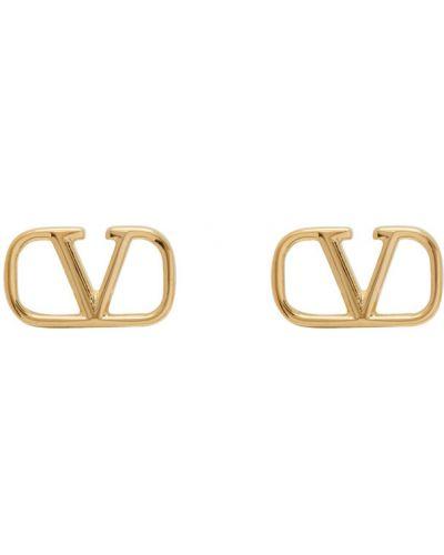Серьги-гвоздики золотые Valentino Garavani