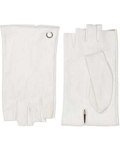 Rękawiczki bez palców - białe Mario Portolano