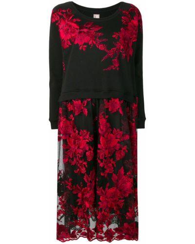 Платье миди с цветочным принтом в рубчик Antonio Marras