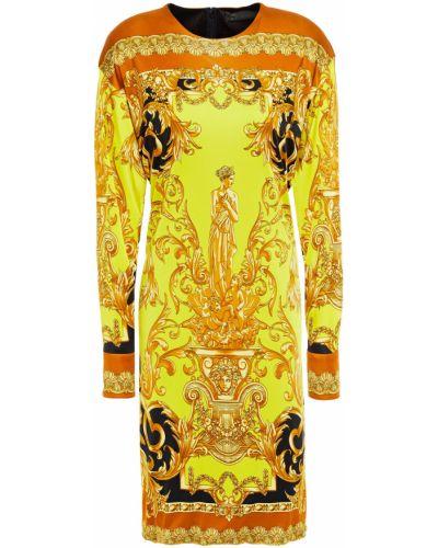 Трикотажное платье - желтое Versace