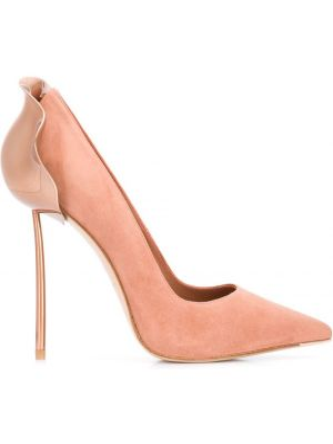 Кожаные лодочки - розовые Le Silla