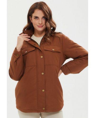 Коричневая утепленная куртка Madlen