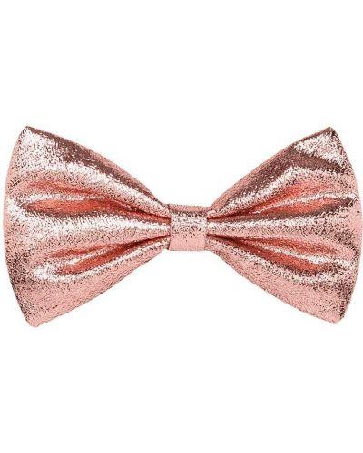 Розовая заколка с бантом Hucklebones London